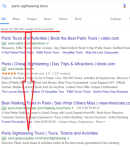 Google results, How to find Keywords for a website